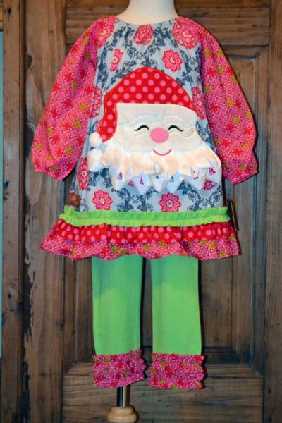 Millie Jay Santa Applique Dress Amp Leggings Set On Storenvy