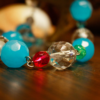 Colour Blocks Faceted Glass Necklace
