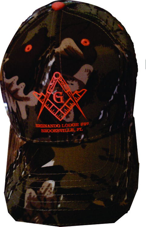 Camo Hat With Masonic Emblem 183 One Stop T Shirts And More