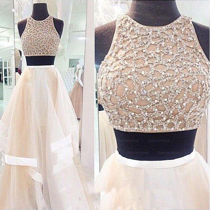 white prom dress, prom dress 2015, long prom dress, unique prom ...