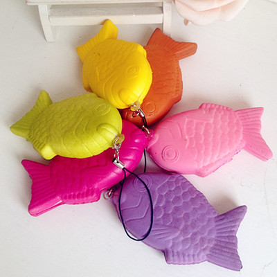 Taiyaki fish squishy charms