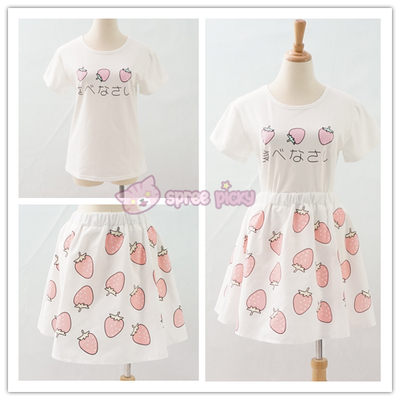 Sweet Strawberry Top and Skirt Set SP152296
