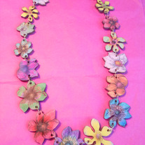 Laser Cut Mega Tropical Necklace