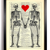 Image of Till Death Do Us Part, Vintage Dictionary Print, 8 x 10