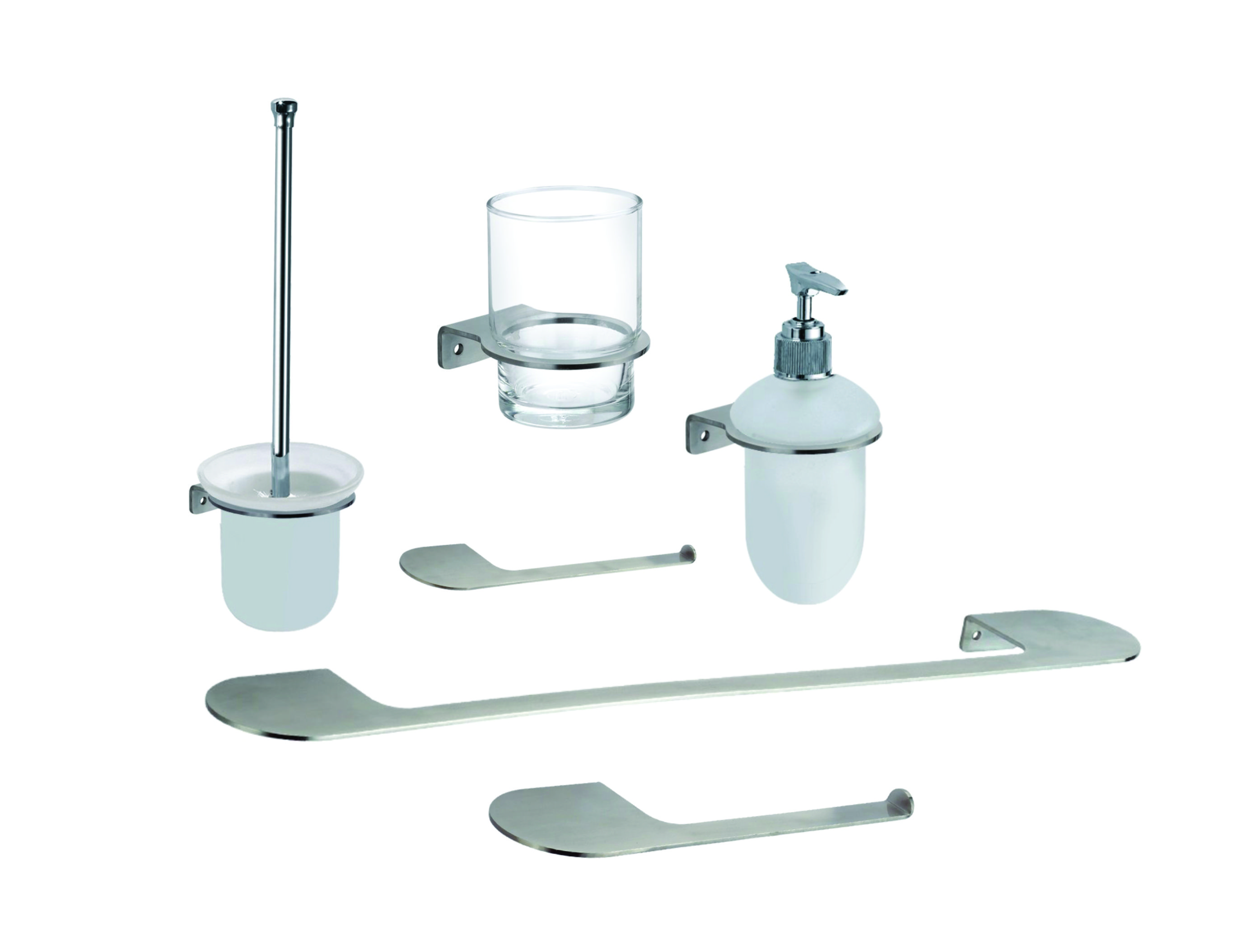 Loft Complete Bathroom Accessories Serie Kit Made With Brushed Stainless Steel On Storenvy