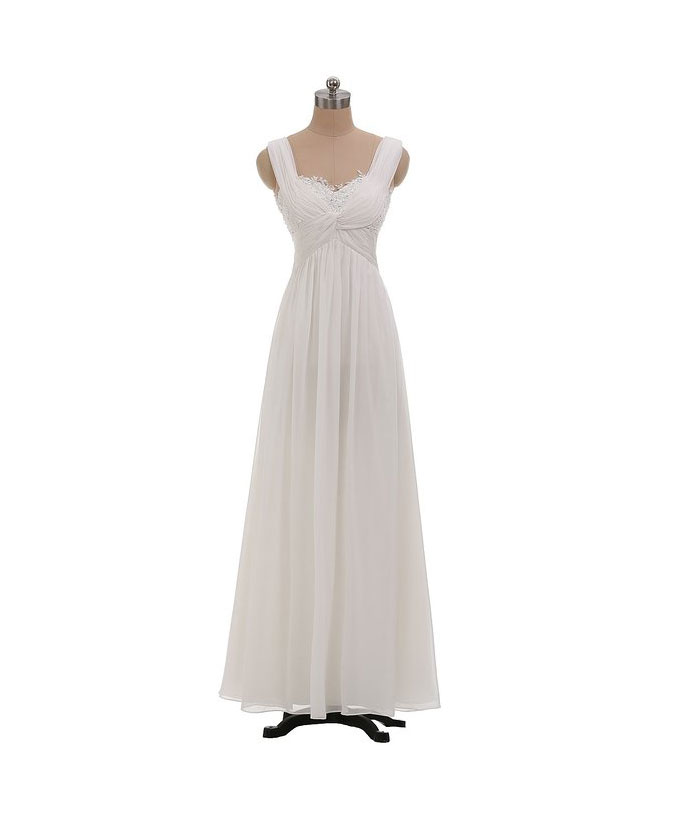 Gorgeous ivory prom dresses chiffon prom dresses beach for Wedding guest dresses sale