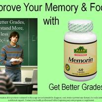 Memorin (Memory Complex) 60 caps (Helps improve Memory & Focus)