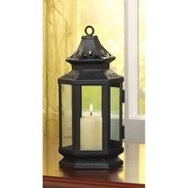 #13361 Black Stagecoach Lantern
