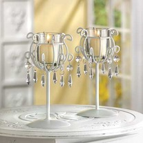 #39550 Crystal Drop Votive Stands