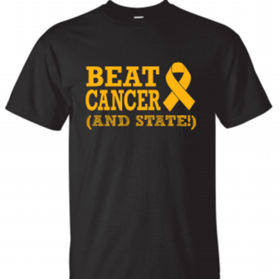 Beat cancer (and state) t-shirt