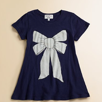 WildFox Kids Marie Bow Short Sleeve Crew Tee