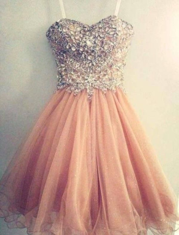 A-line Sweetheart Neck Beaded Bodice Mini Homecoming Dress Short ...
