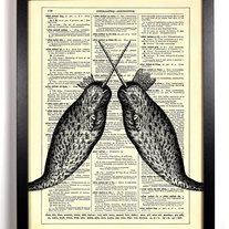 Image of Narwhal Kings, Vintage Dictionary Print, 8 x 10