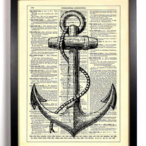 Image of Anchors Aweigh, Vintage Dictionary Print, 8 x 10