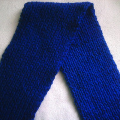 Thick ribbed scarf