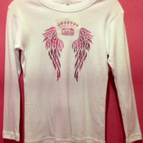 Twinkle Couture Crown Wings Long Sleeve Tee