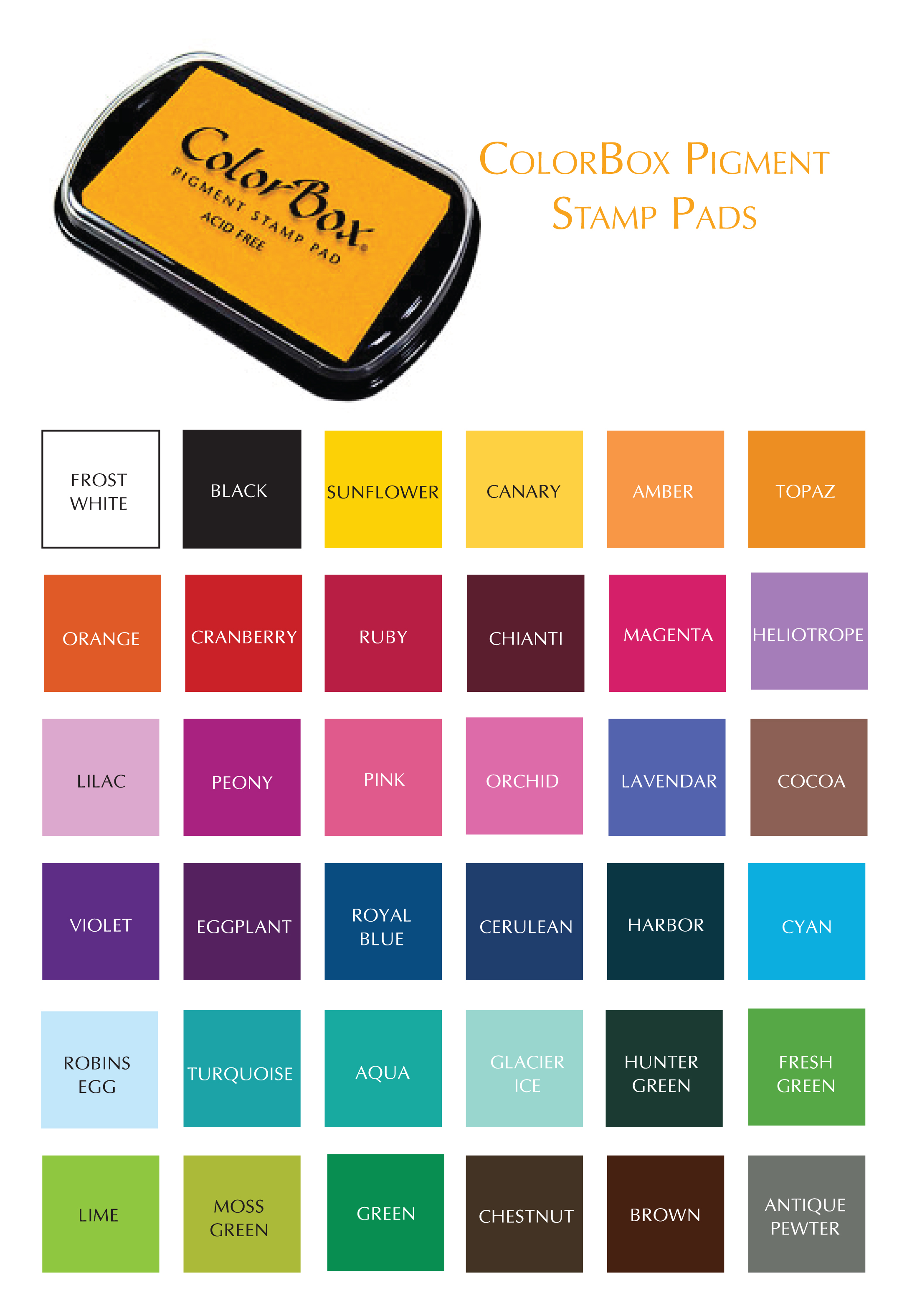 Color Box Pigment Stamp Pad · AngeliqueInk · Online Store Powered by ...
