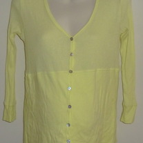 Yellow Long Sleeve Top-Old Navy Maternity Size Medium  GS513