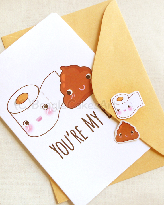 Friendship Card. You're My BFF Card. Toilet Paper & 4x6 ...