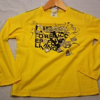 Diesel Turay T-shirt Long Sleeve 14yr - Yellow
