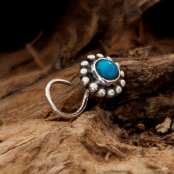 Turquoise Nose Stud Silver Nose Stud Tiny Nose Stud Nose
