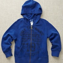 Diesel Satix Zip Up Hoodie, 8yr, Blue