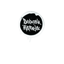 Debonair Material New Logo Sticker (Die Cut)