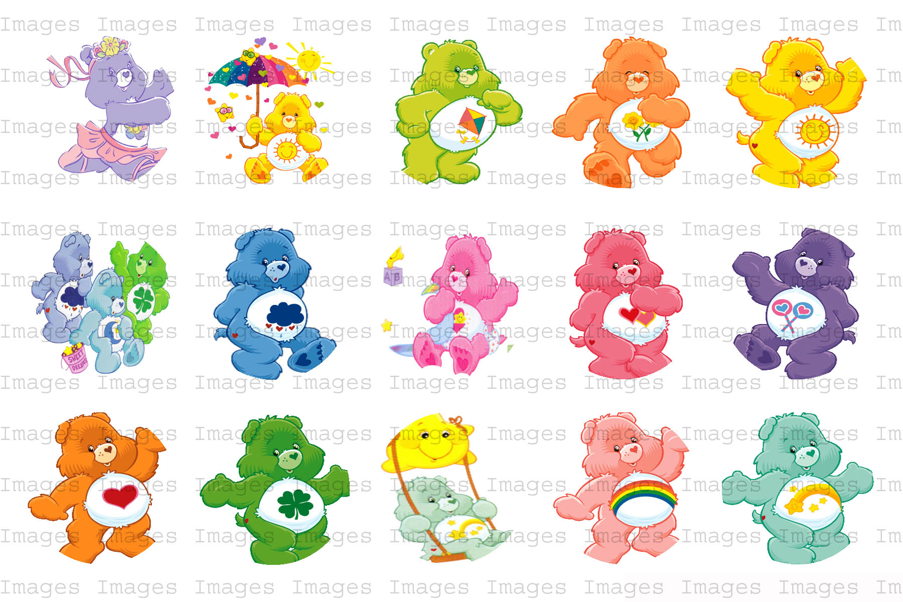 Bottlecapsimages50centpersheet : Carebears : Online Store Powered by ...