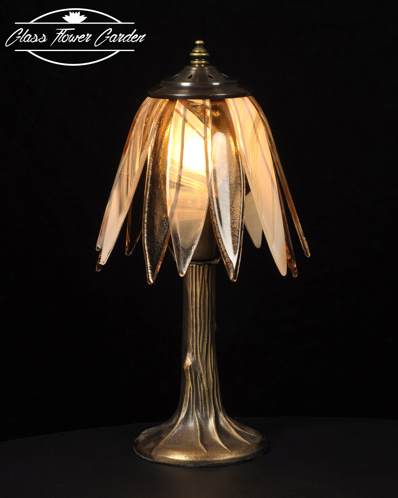 Rose beige glass shaded lamp glass flower garden online store rose beige glass shaded lamp mozeypictures Gallery