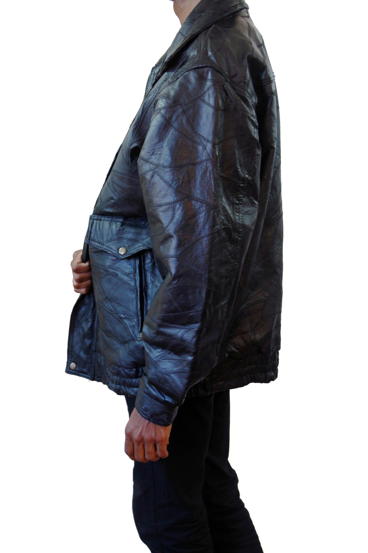 Leather jacket xl size - Baggy Leather Jacket Size Xl Thumbnail 1
