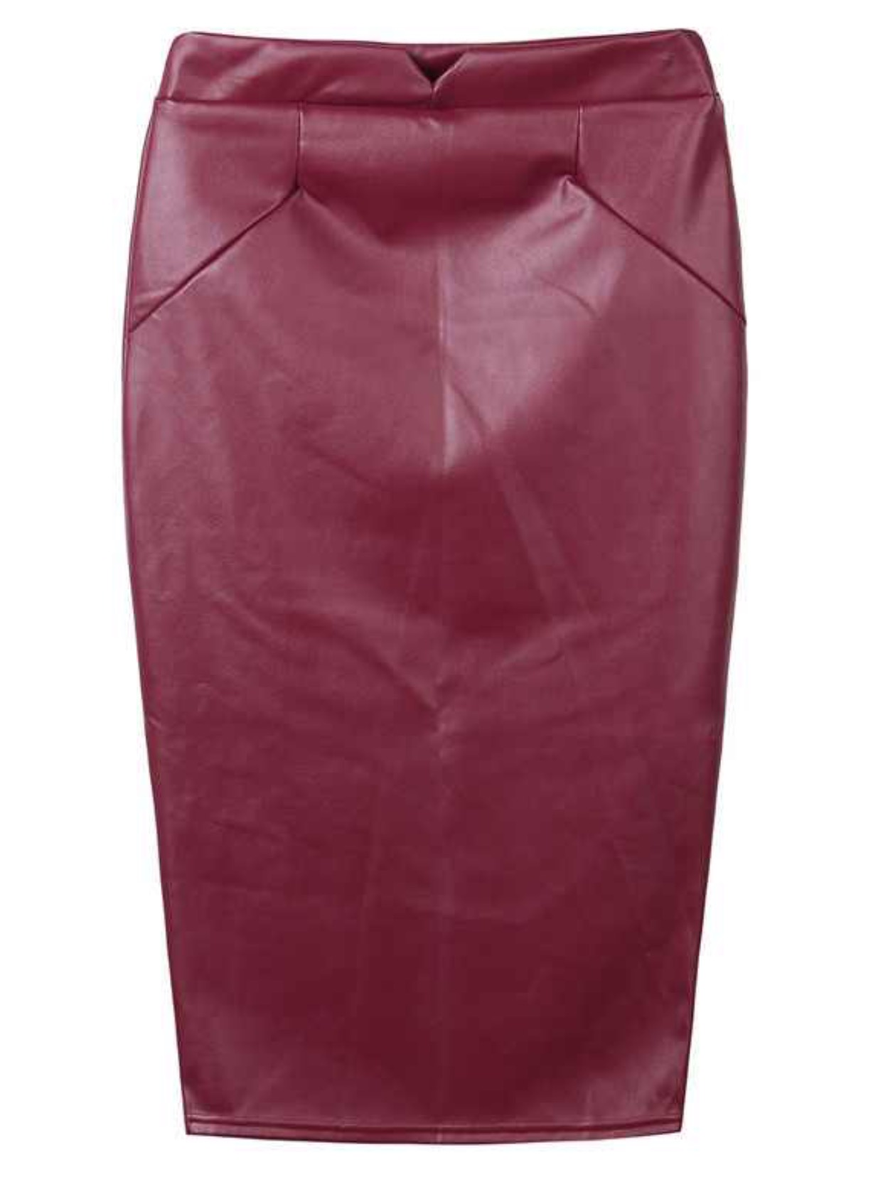 Burgundy Leather Midi Skirt · Trendy Wendy'z Boutique · Online ...
