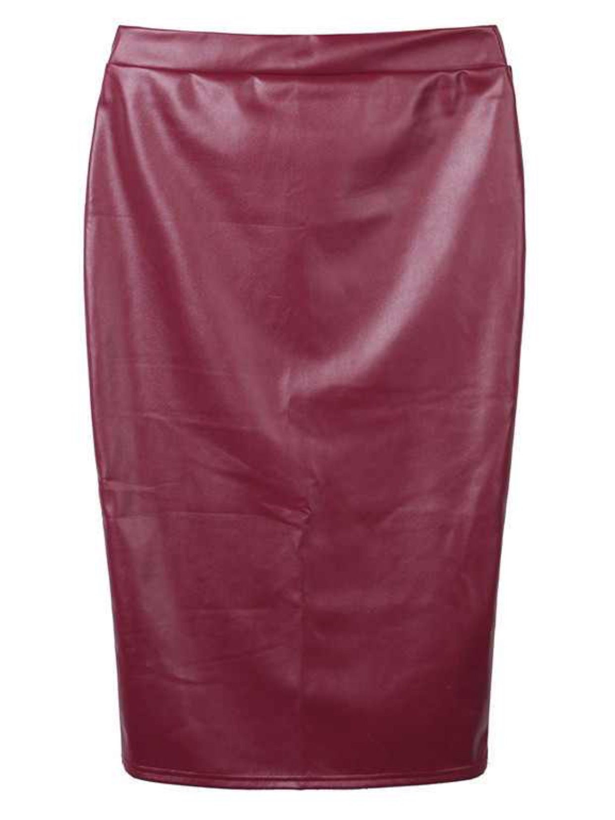 burgundy leather midi skirt 183 trendy wendy z boutique