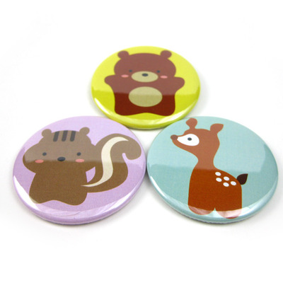 Woodland animal magnet trio - bear squirrel deer