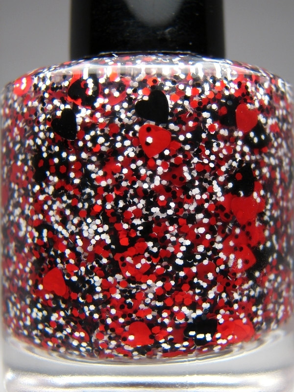 Off With Their Heads - Custom Glitter Nail Polish Alice in Wonderland    Queen Of Hearts Alice In Wonderland Off With Their Heads
