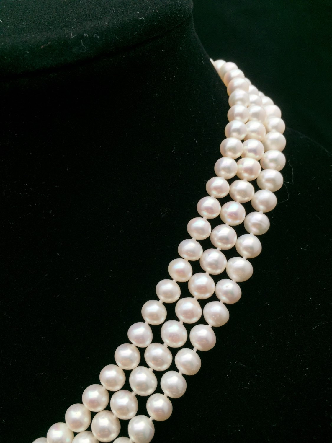 Long Pearl Necklace, Genuine Pearl Necklace, 60 Inches, Aaa Pearl  Necklace, Opera