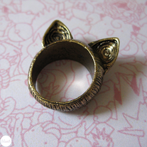 Brass Cat Ears Ring