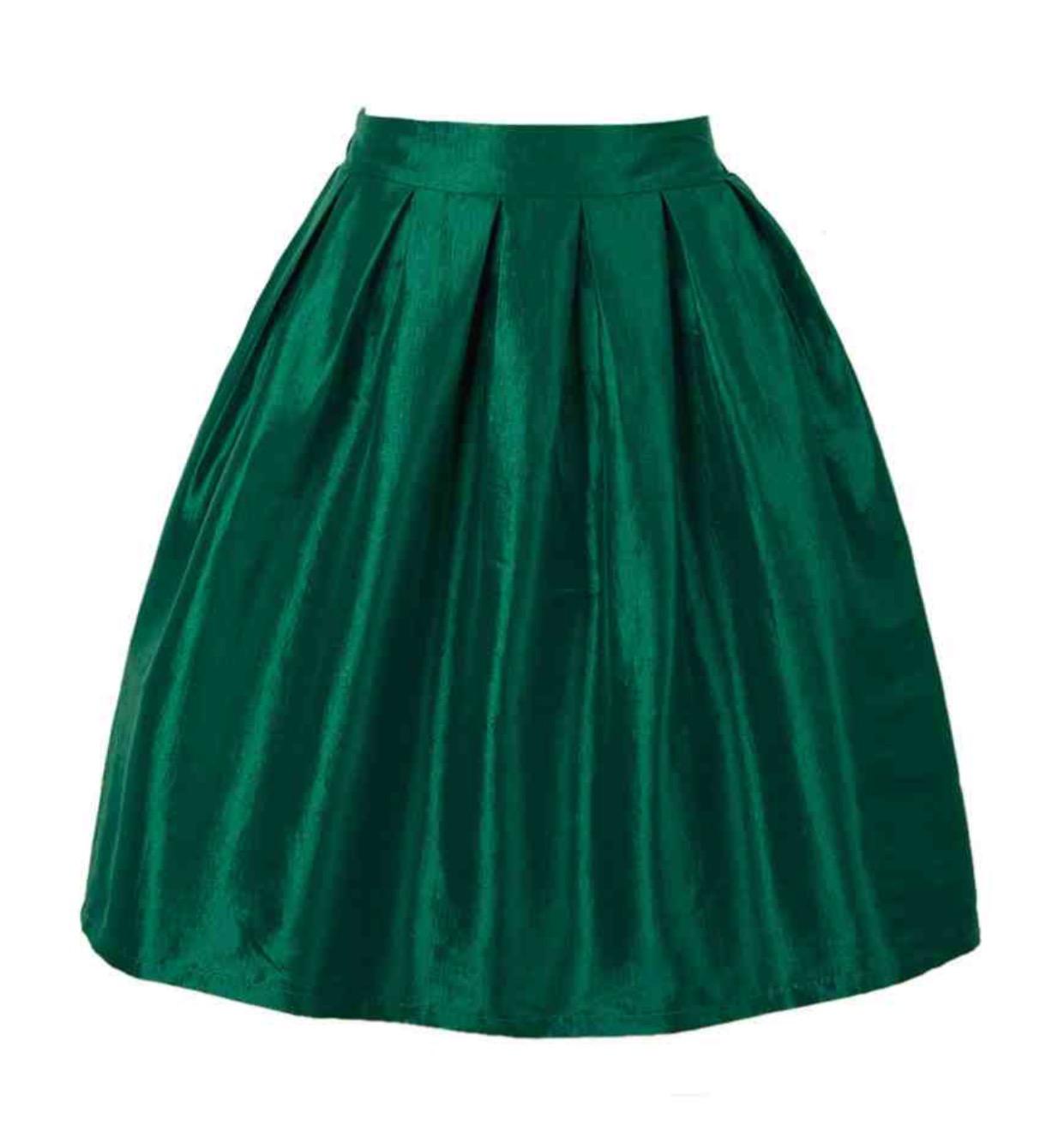 emerald satin midi skirt 183 trendy wendy z boutique