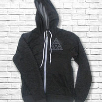 Sierpinski Triangle Zipper Hoodie medium photo