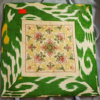 Embroidered Pillowcase; from Ferghana Valley in Uzbekistan - Thumbnail 1