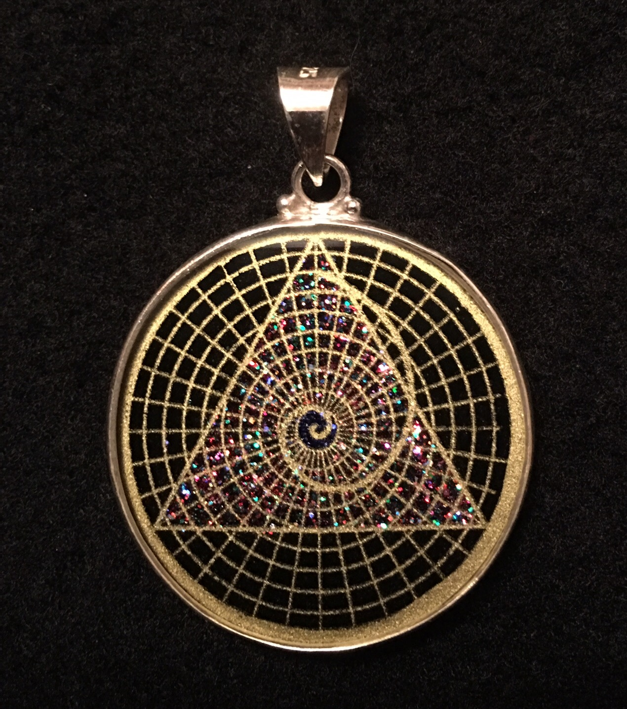 Golden mean spiral sacred geometry pendant rainbows of healing golden mean spiral sacred geometry pendant aloadofball Gallery
