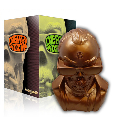 Dead kozik bust - bronze edition - by kevin gosselin