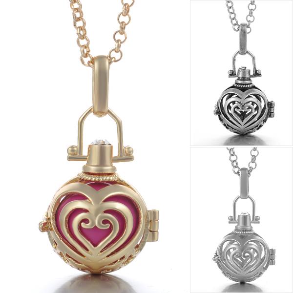 Angel callerharmony ball necklace swirl heart design happiheart angel callerharmony ball necklace swirl heart design aloadofball Images