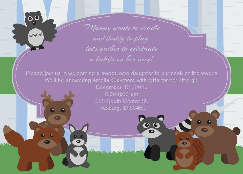 Cute forest animal baby shower invitation slater imaging online cute forest animal baby shower invitation filmwisefo