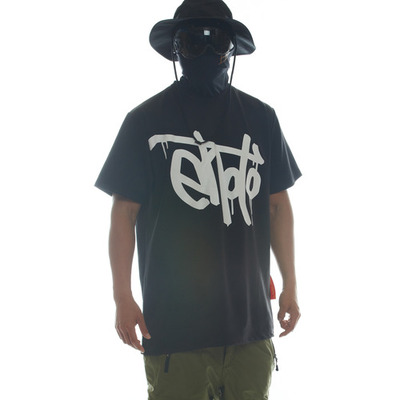 [brand new] ehoto ski & snowboard dry-tech team tall tee - signature black