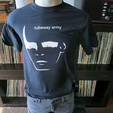 Tubeway army gary numan band t shirt screen print black for Vintage screen print t shirts