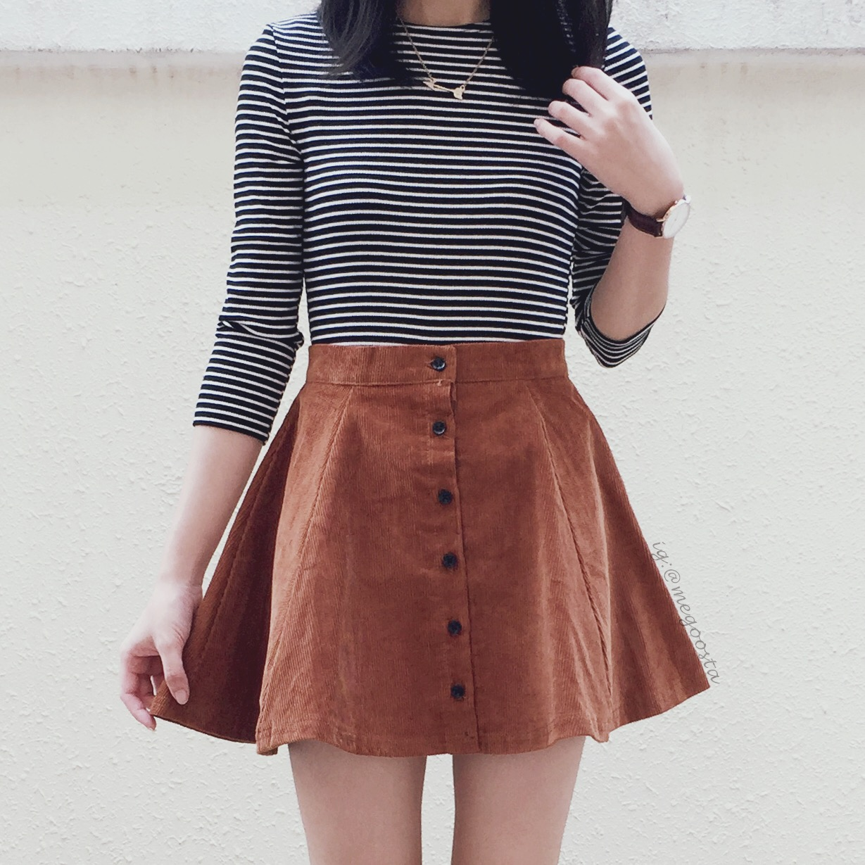 Corduroy Button Up Skirt (Camel) · Megoosta Fashion · Free ...