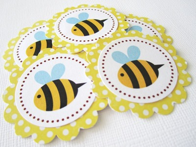 Bumble Bee Favor and Gift Tags - Set of 12