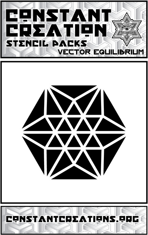 Vector Equilibrium Stencil Sacred Geometry Patterns