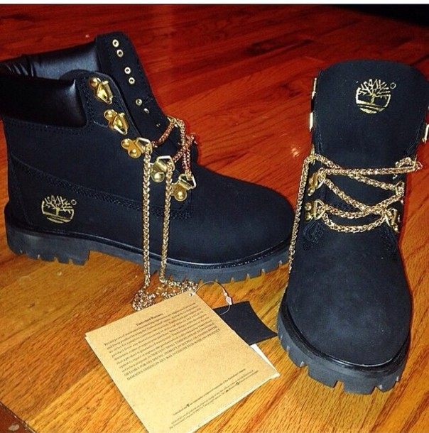 Timberland boots with chain laces photo