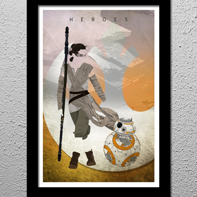 Rey and bb-8 star wars the force awakens